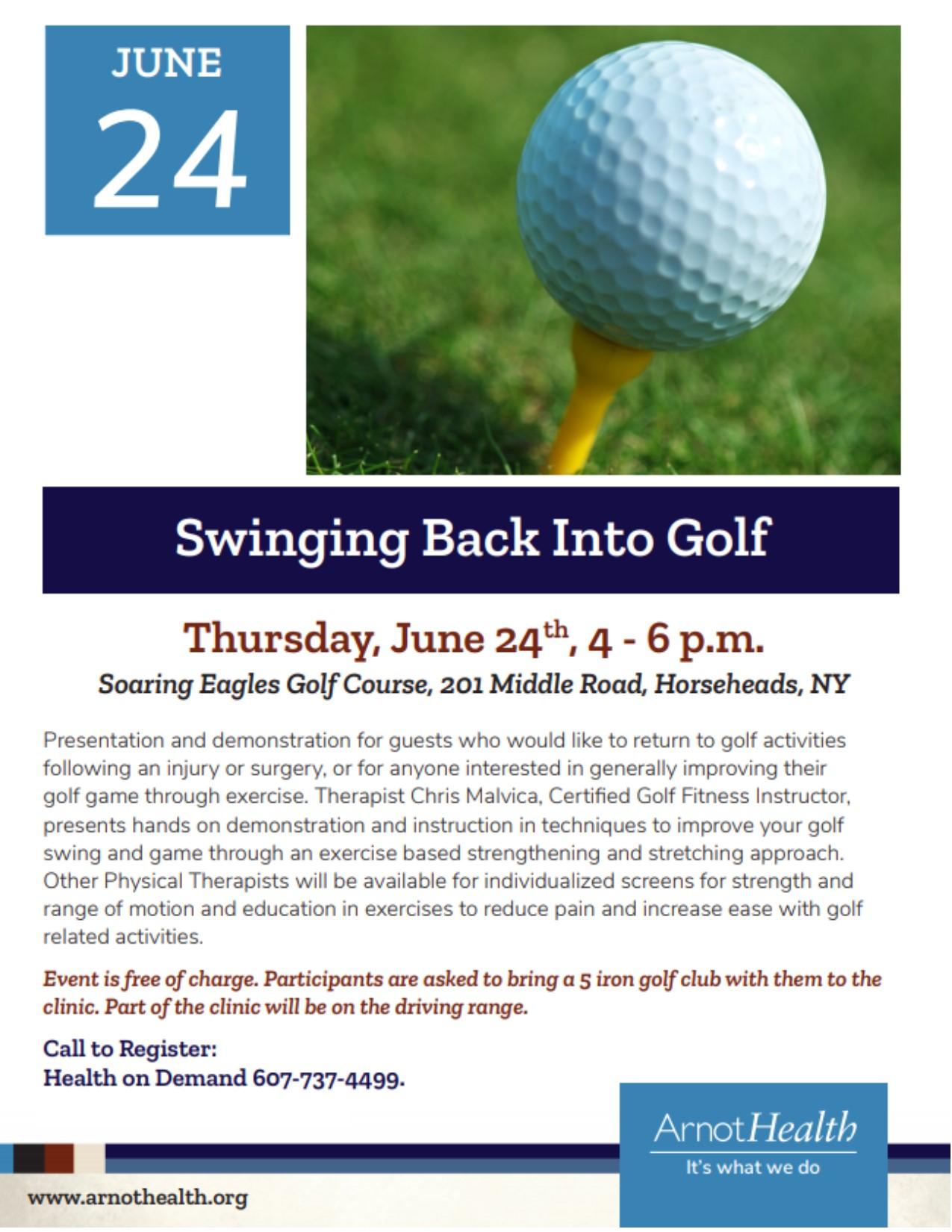 Swinging Back Into Golf